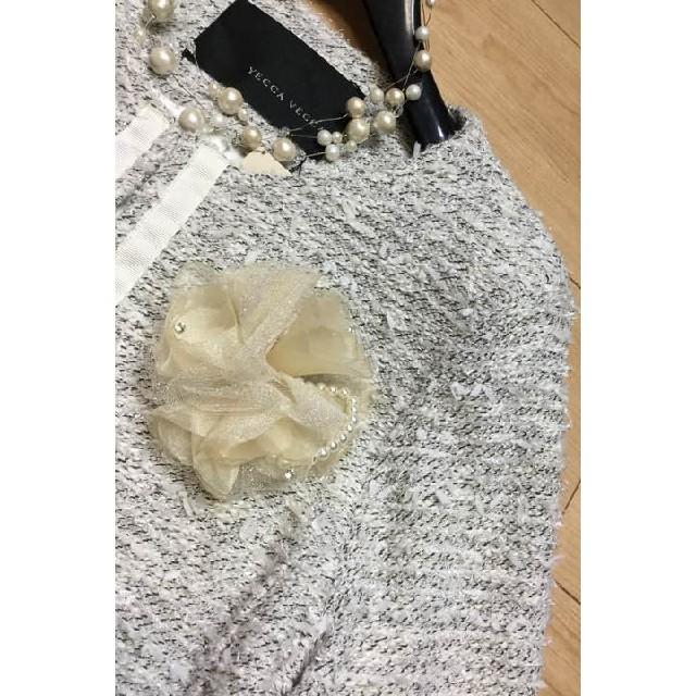 YECCA VECCA(イェッカヴェッカ)の【あゆ様専用】柔らかツイードジャケット イェッカ ヴェッカ   レディースのジャケット/アウター(ノーカラージャケット)の商品写真