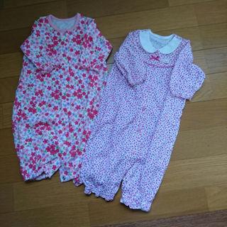ミキハウス(mikihouse)のミキハウス 新生児 ロンパースセット50-60(カバーオール)