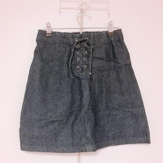 ローリーズファーム(LOWRYS FARM)のLOWRYS FARM*編み上げ台形スカート(ミニスカート)