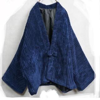 エドウィナホール(Edwina Hoerl)の太畝 コーデュロイ 羽織ジャケット 藍色(ブルゾン)