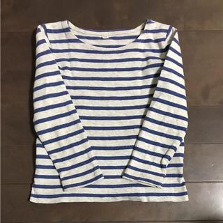 ムジルシリョウヒン(MUJI (無印良品))の90㎝  無印良品  ボーダー カットソー(Tシャツ/カットソー)