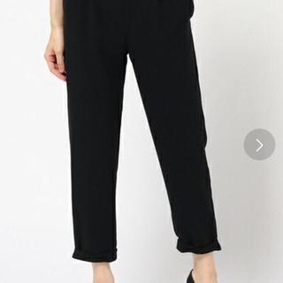 ラウンジドレス(Loungedress)のラウンジドレス 新品 裾ロール パンツ 黒 タグ付き(クロップドパンツ)
