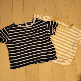 ムジルシリョウヒン(MUJI (無印良品))の値下げ 無印良品 ボーダー 2枚セット 半袖Tシャツ(その他)