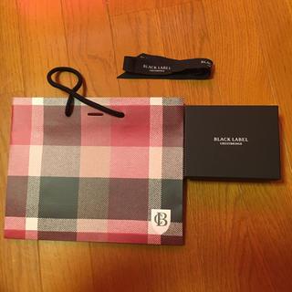 バーバリーブラックレーベル(BURBERRY BLACK LABEL)のBLACK LABEL 箱 袋(ショップ袋)