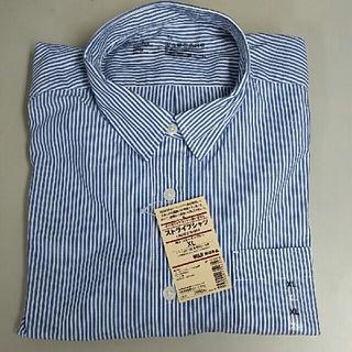 ムジルシリョウヒン(MUJI (無印良品))の新品 無印良品 ストライプシャツ・スモーキーブルー・XL(シャツ/ブラウス(長袖/七分))