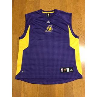 アディダス(adidas)のLAKERS オンコート スリーブレス シューティングシャツ M レイカーズ(バスケットボール)