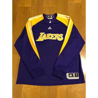 アディダス(adidas)のLAKERS オンコート ロングスリーブ シューティングシャツ M レイカーズ(バスケットボール)