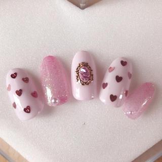 ネイルチップ ジェルネイル ゆめかわネイル ゆめかわいい ピンク