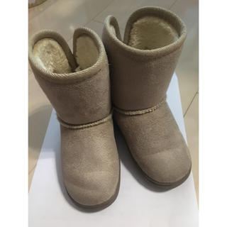 ムジルシリョウヒン(MUJI (無印良品))のムートンブーツ 無印 15cm - 16cm ベージュ (ブーツ)