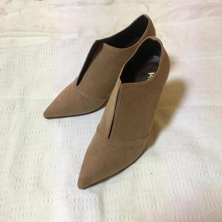 エスペランサ(ESPERANZA)のエスペランサ ブーティ ベージュ キャメル パンプス ブーツ 春ブーツ(ブーティ)
