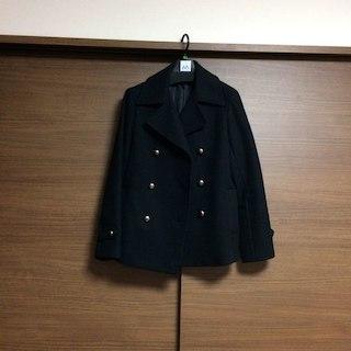 ムジルシリョウヒン(MUJI (無印良品))の無印良品 黒 ピーコート(ピーコート)
