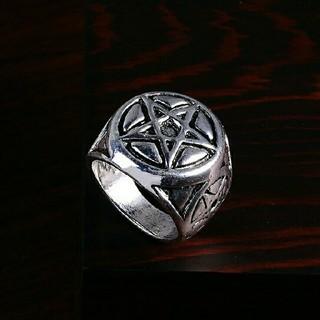 ⭐️300円アクセ⭐️スーパーナチュラル❗クールなペンタグラムファッションリング(リング(指輪))
