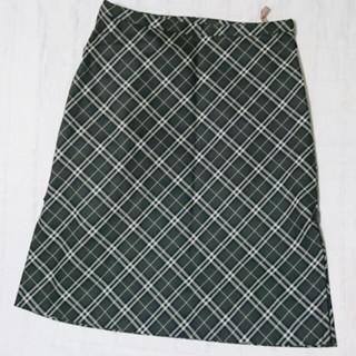 バーバリー(BURBERRY)の◆371 BURBERRY BLUE LABEL ダークグリーンのスカート 38(ひざ丈スカート)