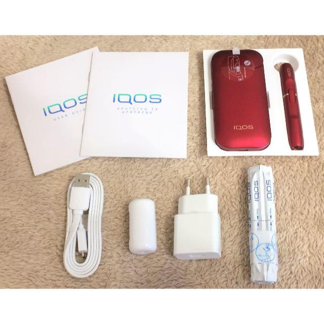 新品、赤箱 iQOS アイコス ボルドーレッド スターターキット 欧州限定 メンズのファッション小物(タバコグッズ)の商品写真