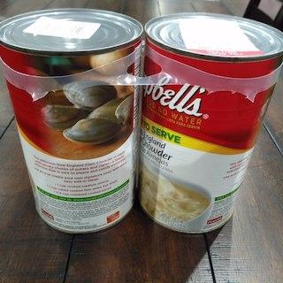 コストコ(コストコ)のキャンベルクラムチャウダー1.4kg×2缶(缶詰/瓶詰)