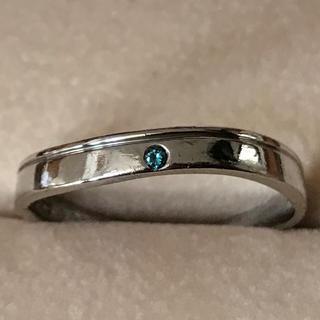 pt900  ブルーダイヤモンドリング 15号(リング(指輪))