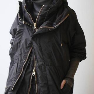 アパルトモンドゥーズィエムクラス(L'Appartement DEUXIEME CLASSE)のアパルトモン レミレリーフ ナイロンジップアップジャケット 新品 ブラック(ナイロンジャケット)
