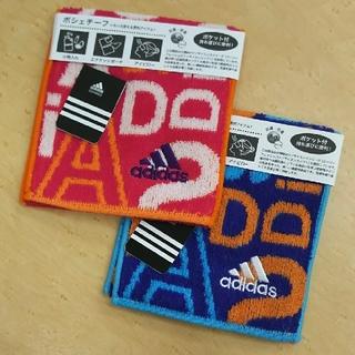 アディダス(adidas)の《ねこ吉様専用‼️》【新品☆未使用】adidasポシェチーフ青 3枚セット(ハンカチ)
