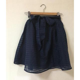 ハニーズ(HONEYS)のハニーズ ネイビー スカート M(ひざ丈スカート)