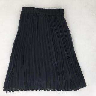 ジーユー(GU)のGUブラックプリーツスカート(スカート)