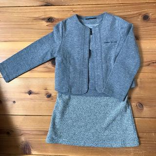 コムサイズム(COMME CA ISM)のコムサ ジャケット付きワンピース サイズ100(ドレス/フォーマル)