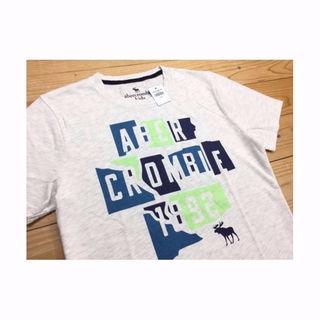 アバクロンビーアンドフィッチ(Abercrombie&Fitch)の新品【KID'S 15/16】★アバクロ★プリント半袖Tシャツ/グレー(その他)