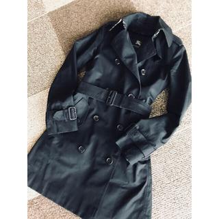 バーバリー(BURBERRY)のBERBERRY 三陽商会 バーバリーロンドントレンチコート 黒 ブラック 34(トレンチコート)