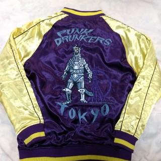 パンクドランカーズ(PUNK DRUNKERS)のパンクドランカーズ廃盤希少スカジャン メカゴジラ×キングギドラ(Lサイズ)(スカジャン)