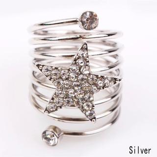 スター星型メンズレディースリング指輪 Love ストーンリング(リング(指輪))