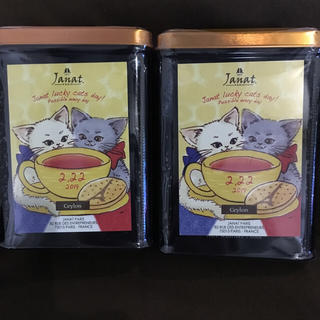 カルディ(KALDI)のぴんく様専用ページ♪ KALDI ネコの日バック 紅茶 2缶(茶)