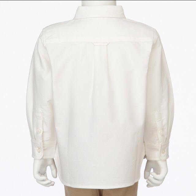 MUJI (無印良品)(ムジルシリョウヒン)の【新品】 無印良品 キッズ オックスフォード シャツ 白 カッター ブラウス キッズ/ベビー/マタニティのキッズ服 男の子用(90cm~)(ブラウス)の商品写真