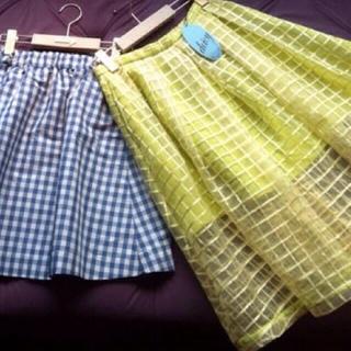 デイシー(deicy)のオーガンジースカート(ひざ丈スカート)
