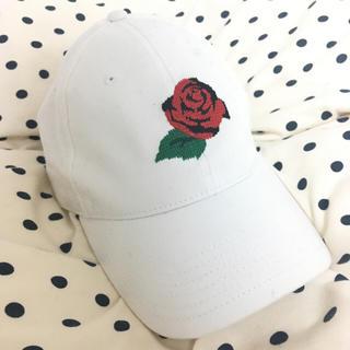 オープニングセレモニー(OPENING CEREMONY)の バラ刺繍cap(キャップ)