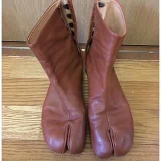 マルタンマルジェラ(Maison Martin Margiela)の希少 マルジェラ足袋ブーツ ローヒール(ブーツ)