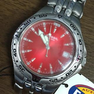 フォッシル(FOSSIL)のFOSSIL フォッシル 腕時計 ウォッチ レッド(腕時計(アナログ))