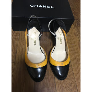 シャネル(CHANEL)の週末特価❣️シャネル パンプス 靴 ヒール 37 2/1 ココマーク(ハイヒール/パンプス)