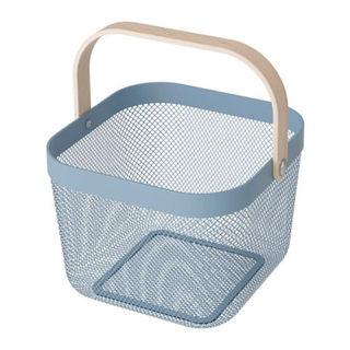 イケア(IKEA)の【IKEA】新色!!RISATORPバスケット, ブルー(その他)
