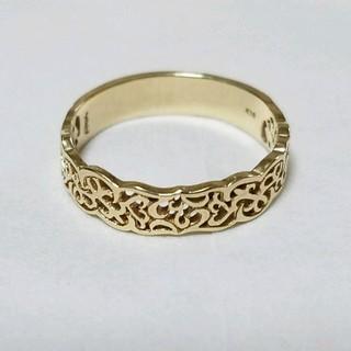 イエローゴールド透かしデザインリング (リング(指輪))