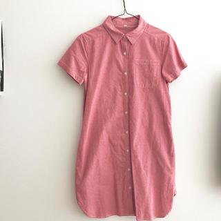 ムジルシリョウヒン(MUJI (無印良品))の無印良品 授乳服 シャツワンピース(マタニティワンピース)