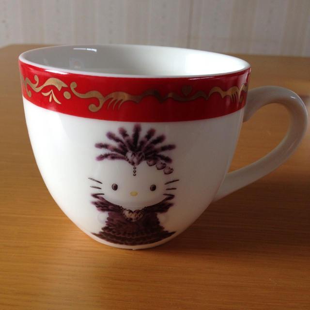 ハローキティ(ハローキティ)のキティ マグカップ インテリア/住まい/日用品のキッチン/食器(食器)の商品写真