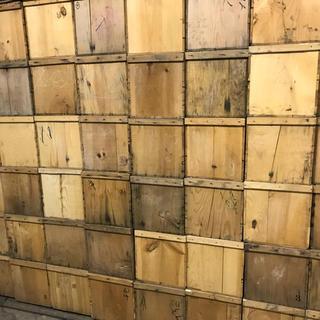 リンゴが入ってた中古木箱 2箱セット 送料込み (棚/ラック/タンス)