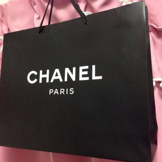 シャネル(CHANEL)のシャネルCHANELロゴショッピングバッグ44cm旅行袋便利荷物パリの直営店紙袋(その他)