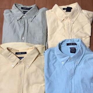 美品 XL, XXL オックスシャツ GAP ブルー グリーン イエロー(その他)