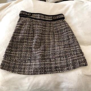 プーラフリーム(pour la frime)のvis ツィードスカート(ひざ丈スカート)