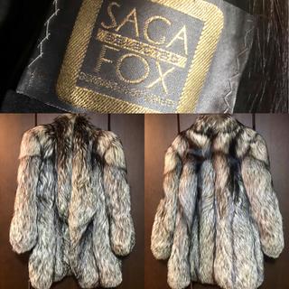【180万円相当!SAGA FOX金ラベル】大毛量シルバーフォックス毛皮コート(毛皮/ファーコート)