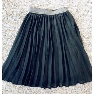 ジーユー(GU)の美品👗 GU キッズ プリーツ スカート 110 ブラック(スカート)