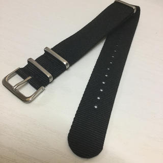 腕時計用20mm ナイロンNATOベルト1本  ブラック黒(腕時計(アナログ))