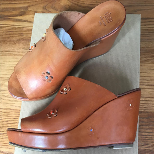 45rpm(フォーティーファイブアールピーエム)のアンリークイール HENRY CUIRサンダル35 レディースの靴/シューズ(サンダル)の商品写真