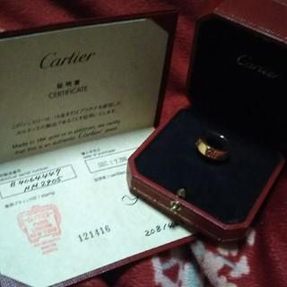 カルティエ(Cartier)のピンクゴールド ピンクサファイア ラブリング(リング(指輪))