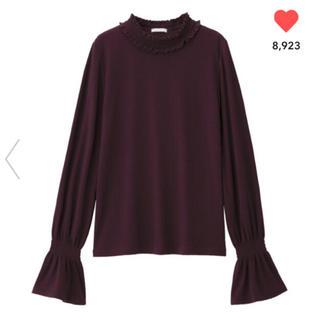 ジーユー(GU)のGU フリルネックT(Tシャツ(長袖/七分))